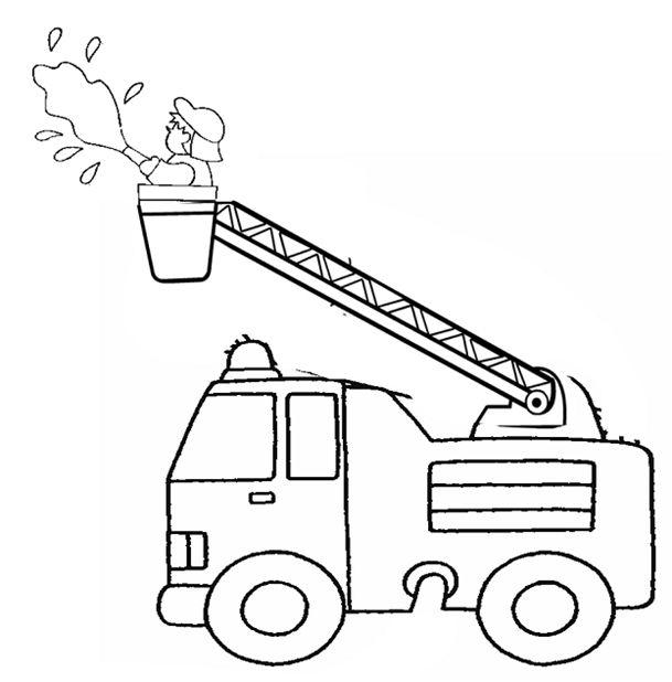 Nice dessiner un camion de pompier facile 12 - Dessiner un camion de pompier ...