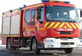 roue et rideau camion pompier