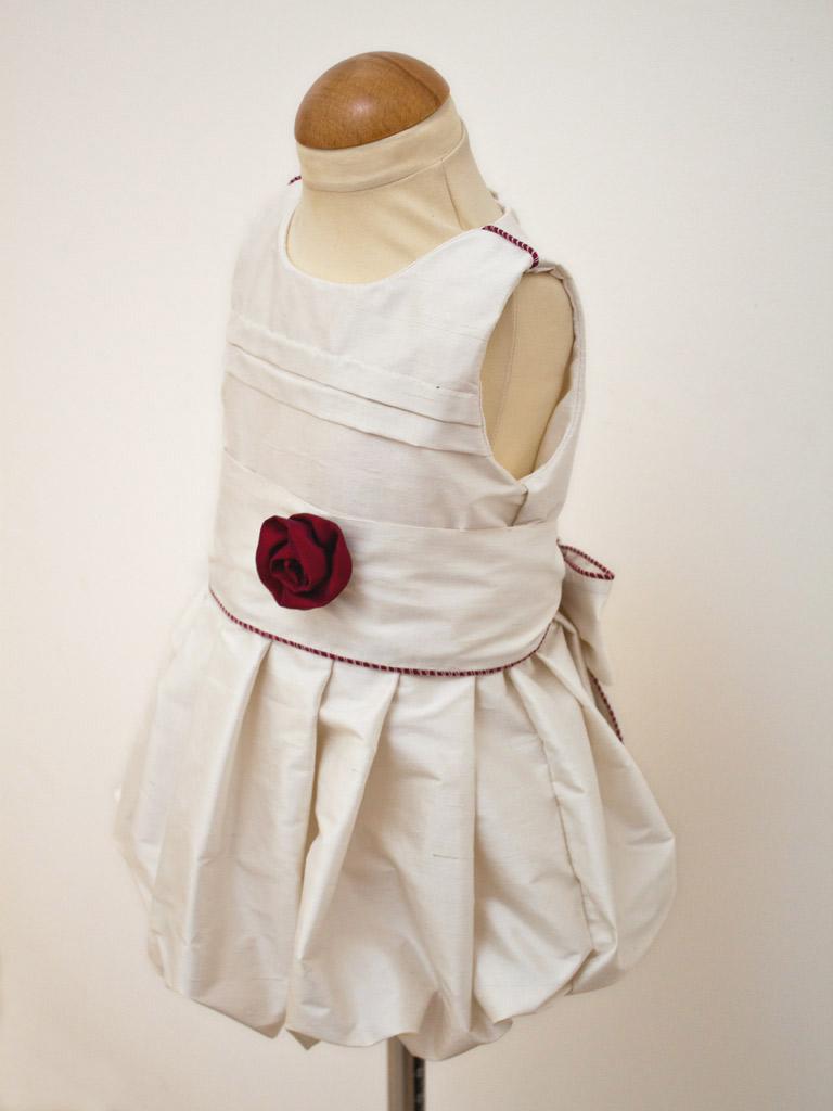 robe boule à plis
